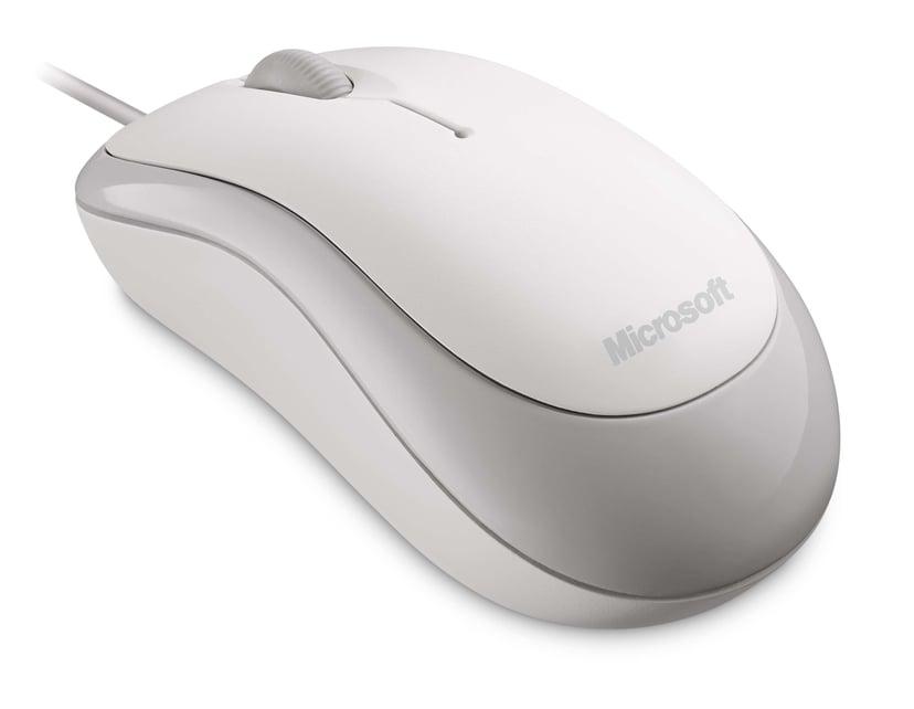 Microsoft Basic Optical Mouse 800dpi Muis Met bekabeling Wit