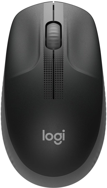 Logitech M190 Full-Size Wireless Mouse - Charcoal 1,000dpi Mus Trådløs Svart
