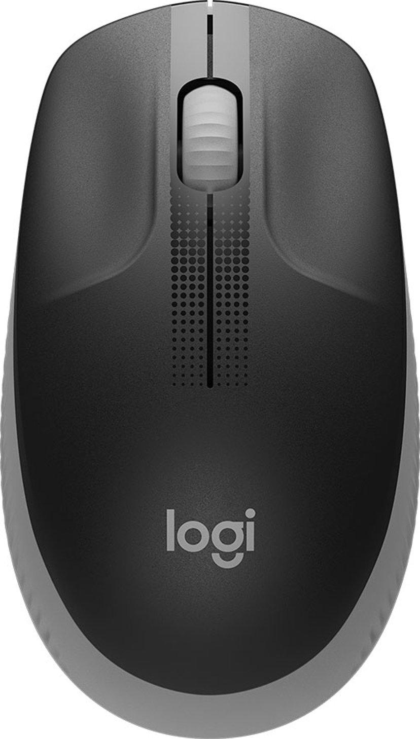 Logitech M190 Full-Size Wireless Mouse - Mid Grey 1,000dpi Mus Trådløs Grå