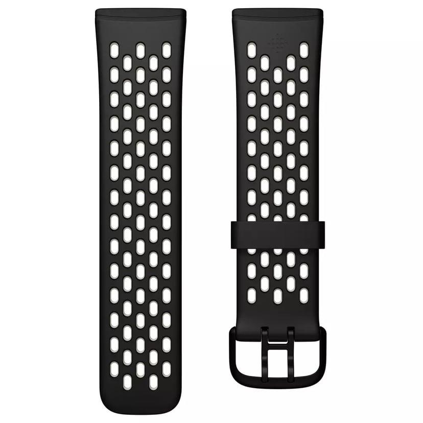 Fitbit Armbånd Sport Large Sort - Versa 3/Sense