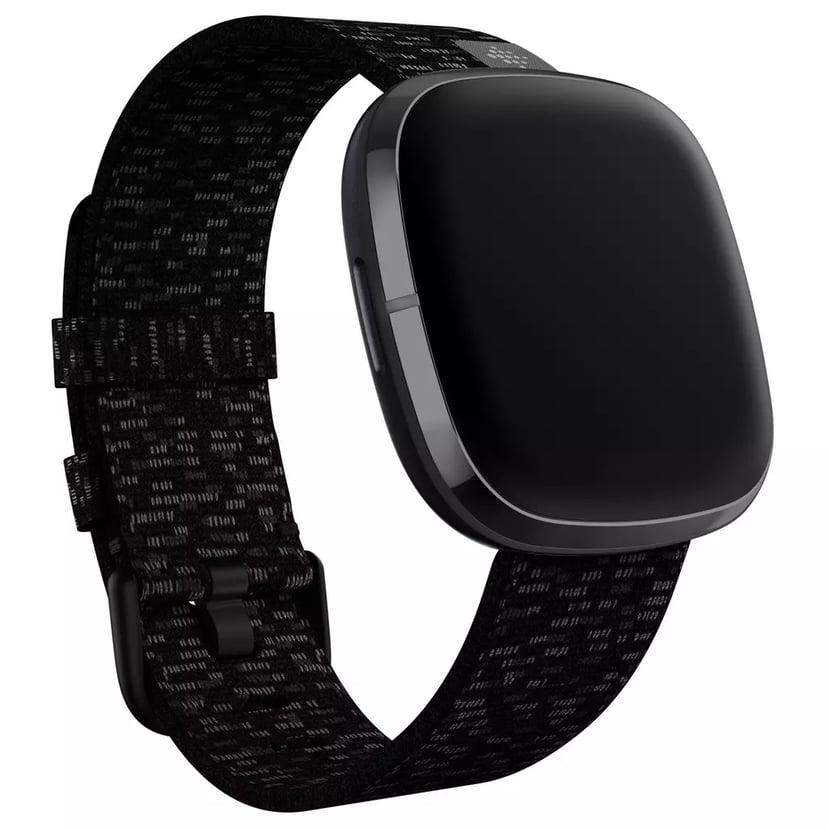 Fitbit Armband Large Vävt Charcoal - Versa 3/Sense