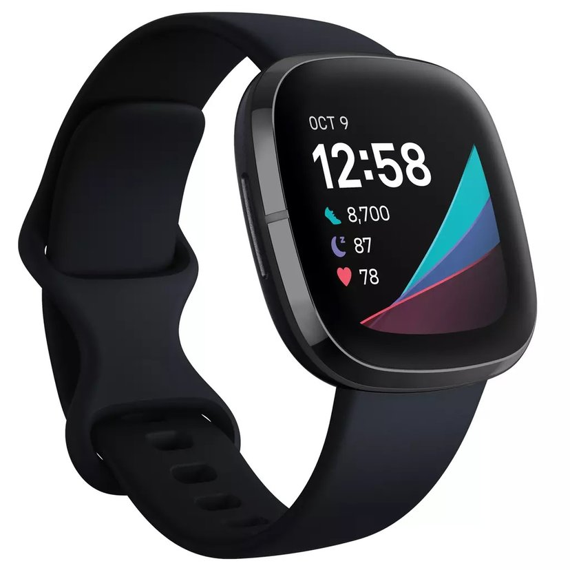 Fitbit Sense Carbon/Graphite Aktivitetssporer Sort
