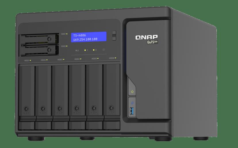 QNAP TS-H886-D1622-16G 0TB NAS-server