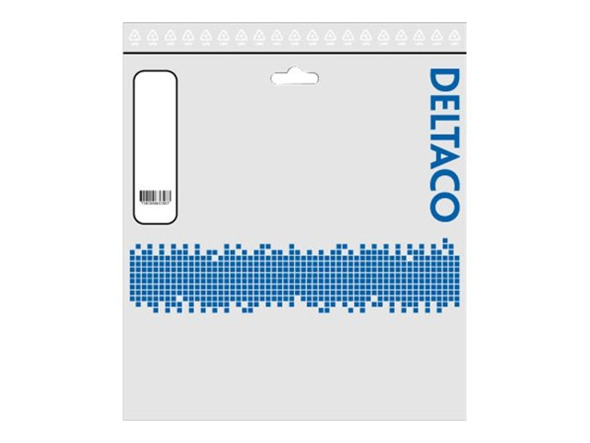 Deltaco Optisk fiberkabel LC/UPC LC/UPC OS2 2m