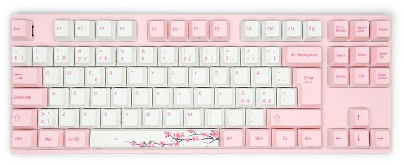Varmilo VA88M Sakura MX Brown Kablet Tastatur Nordisk Hvit, Rosa