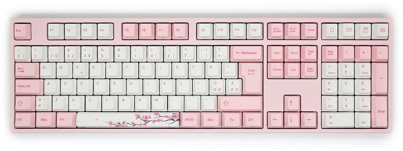 Varmilo VA109M Sakura MX Brown Tastatur Kablet Nordisk Hvit, Rosa