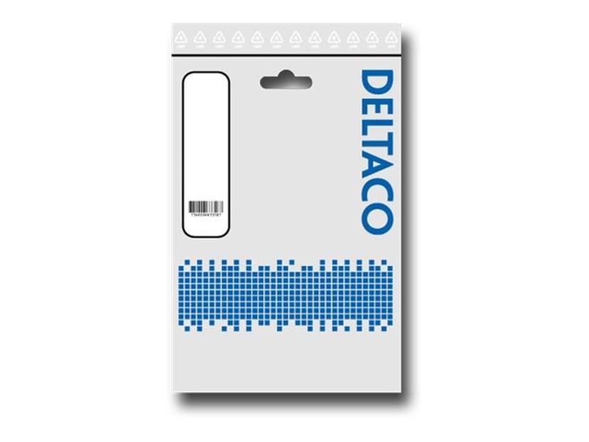 Deltaco Strømforsyningsadapter 0.25m Strøm 8 pin EPS12 V Han Strøm 8 pin EPS12 V Hun
