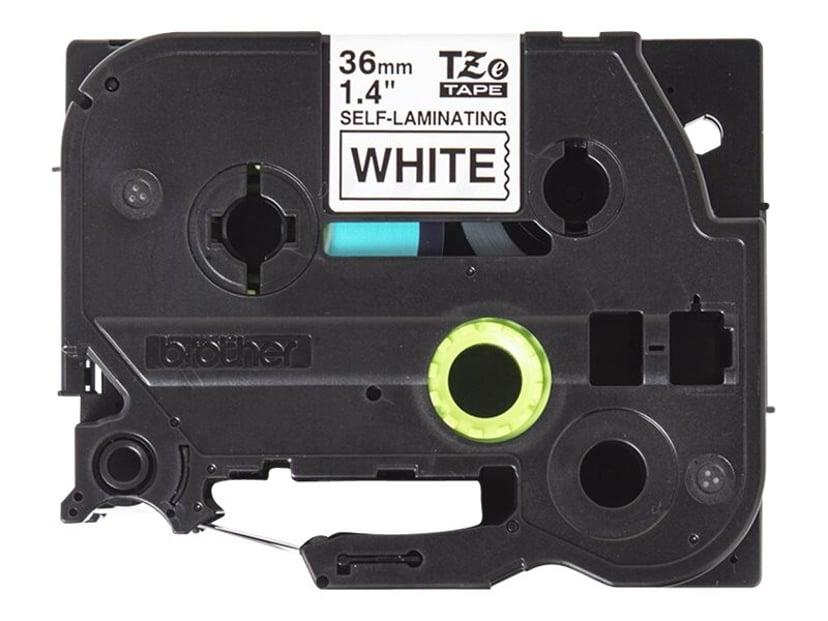 Brother Tape TZe-SL261 36mm Självlaminerande Svart/Vit