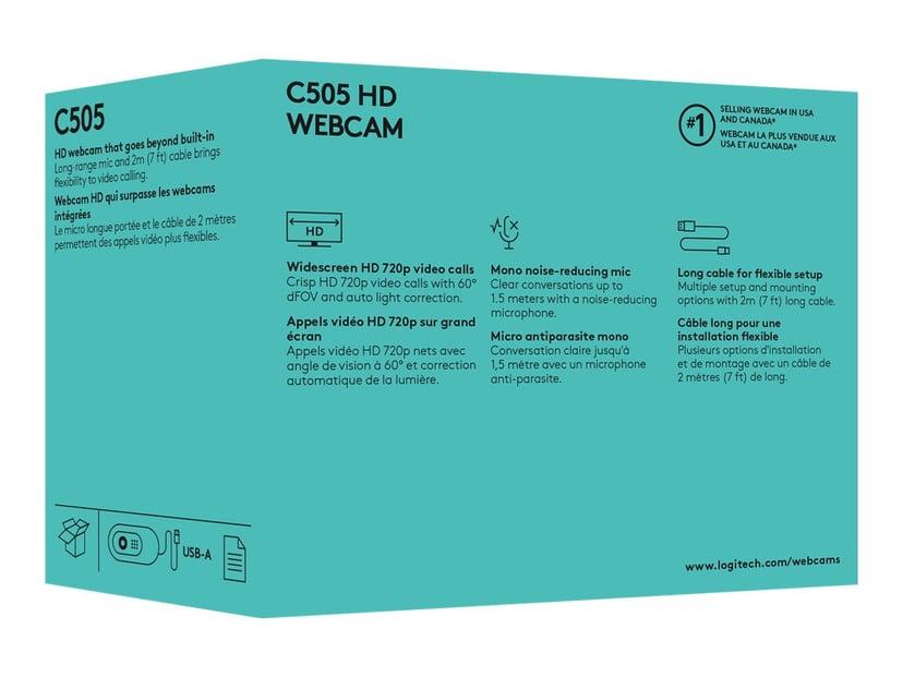 Logitech C505 HD Zwart Webcam 1280 x 720