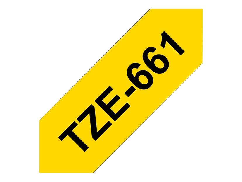 Brother Tape TZE-661 36mm Sort/Gul