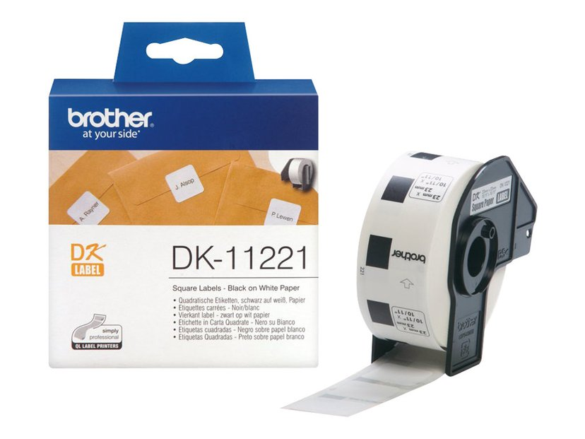 Brother Etiketter Fyrkantig 23 x 23mm 1000st Vit