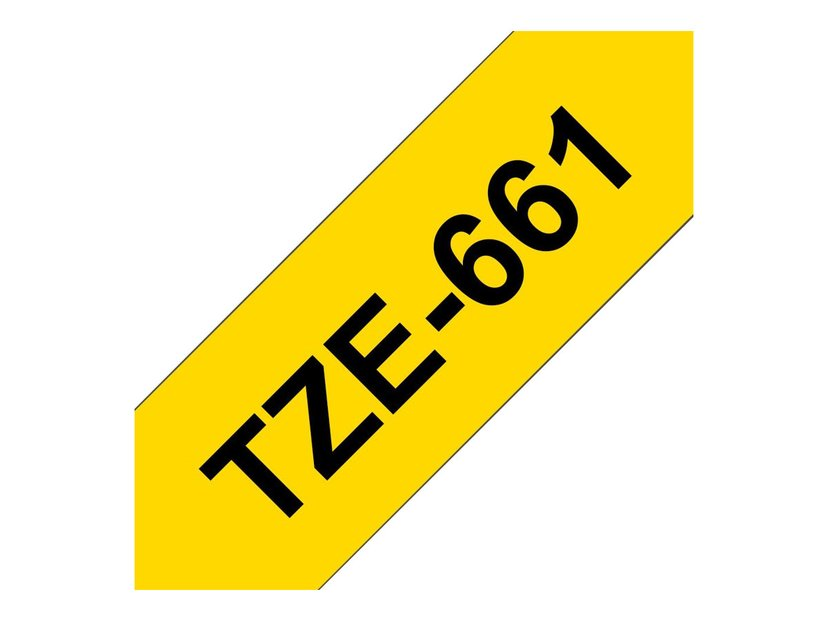 Brother Tape TZe-661 36mm Svart/Gul