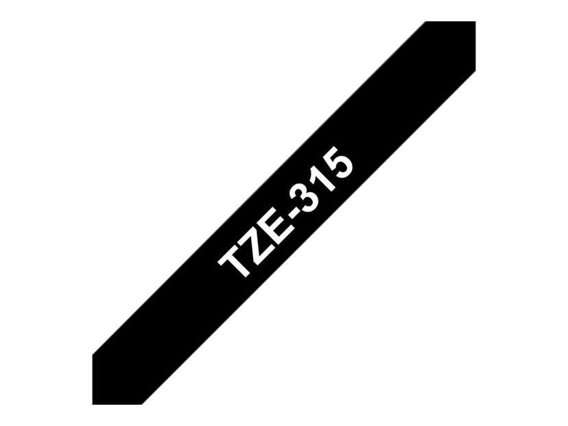 Brother Tape TZe-315 6mm Vit/Svart