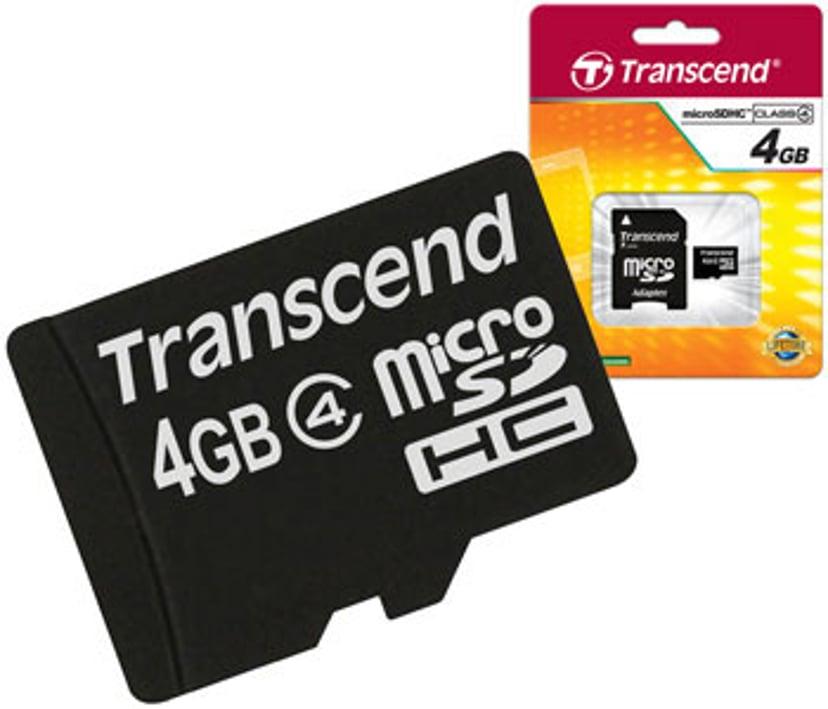 Transcend Flashhukommelseskort 4GB microSDHC