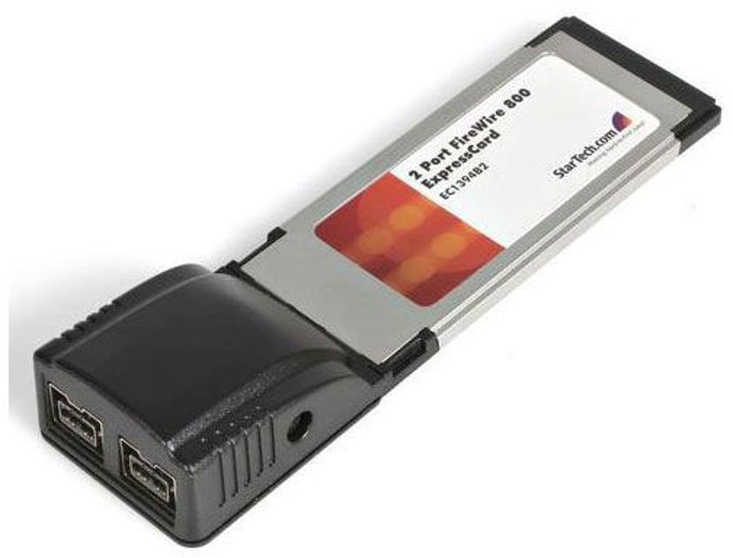 Startech 2 Port ExpressCard 1394b FireWire Laptop Adapter Card