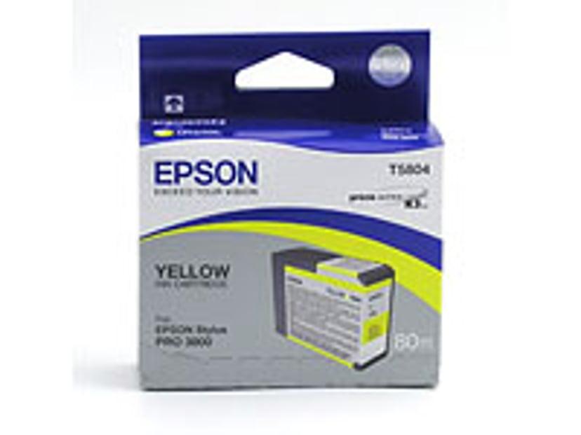 Epson Blekk Gul T5804 - PRO 3800