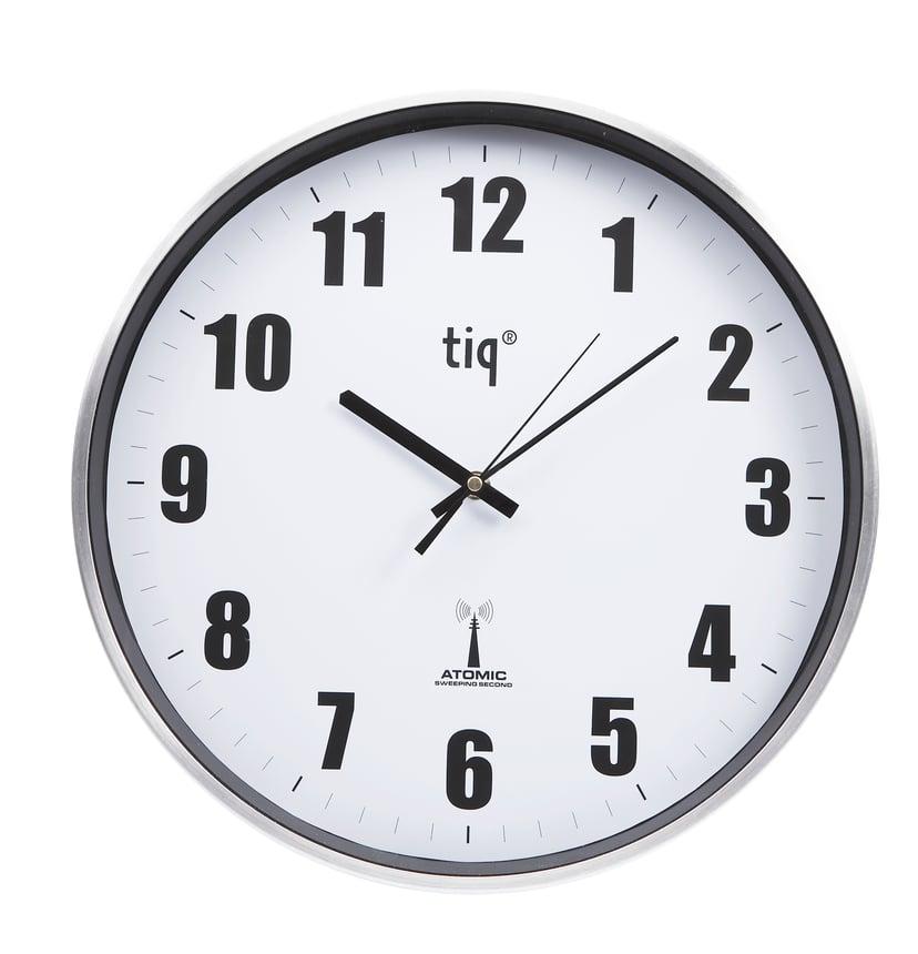 Ketonic TIQ Wall Clock Aluminium 380mm Radio Controlled Silence