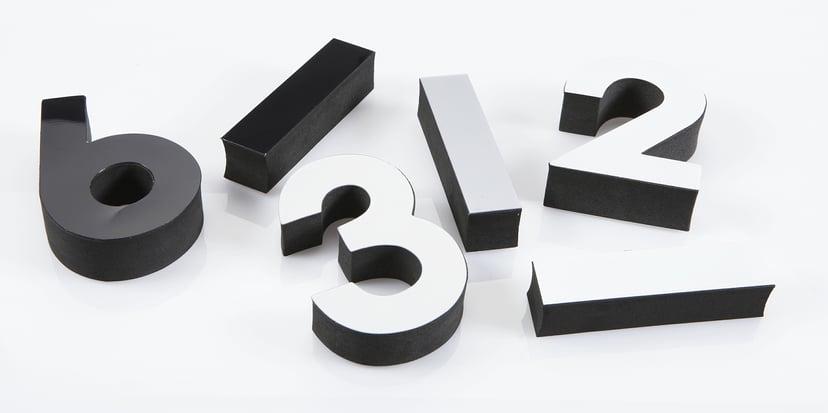 Ketonic Väggur Skumplast Byggbar 250-1000mm Svart
