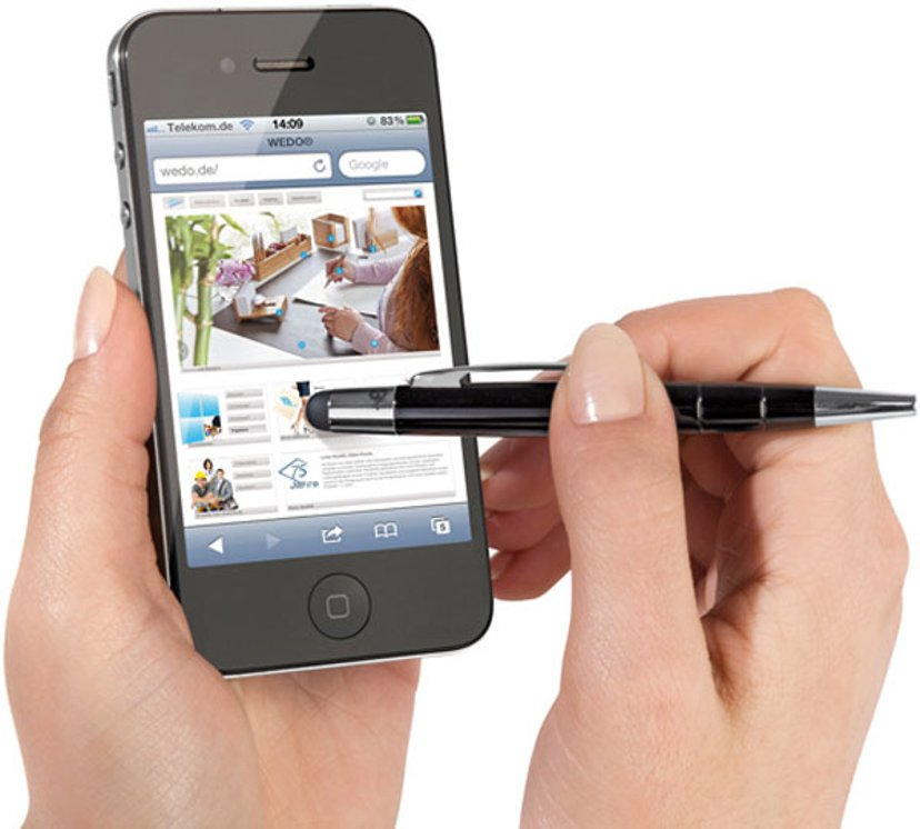 Wedo TouchPen Pioneer Mini Svart - iPad/iPhone/Smartphone