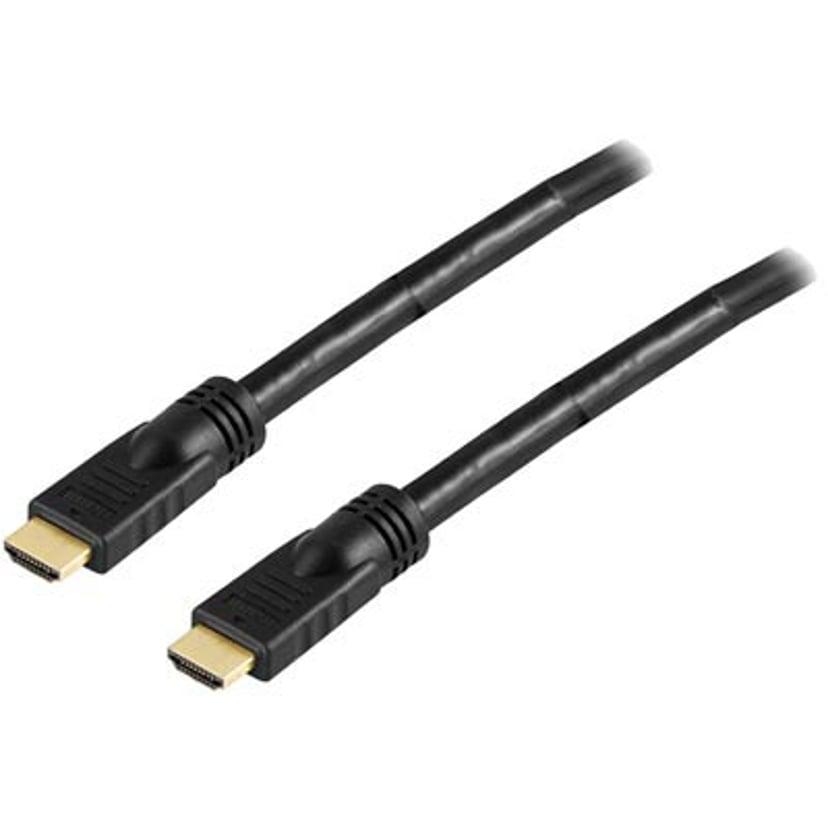 Deltaco HDMI - HDMI HIGH SPEED W/ ETHERNET ACTIVE 25m HDMI Hann HDMI Hann