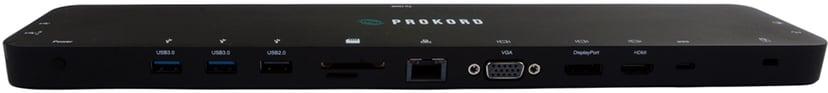 Prokord USB-C 4K Triple Display Docking Station PD3.0 Charge #demo