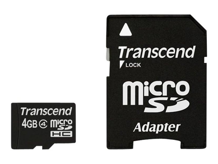 Transcend Flash-Minneskort 4GB microSDHC