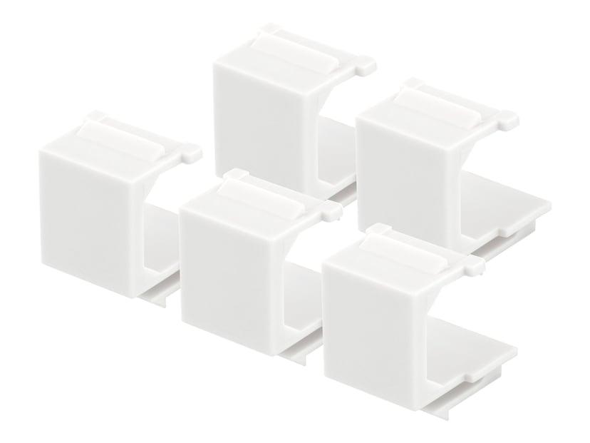 Deltaco Keystone blindplugg Vit 5-pack