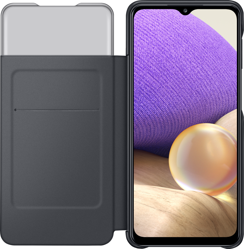 Samsung S View Wallet Cover EF-EA326 Svart Samsung Galaxy A32 5G