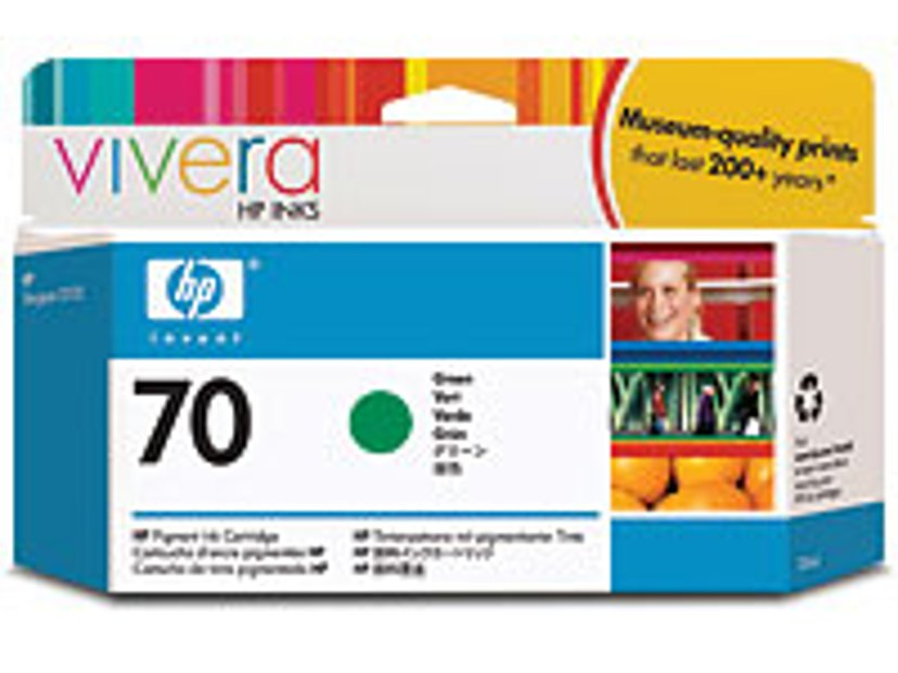 HP Blekk Grønn No.70 - DJ Z3100