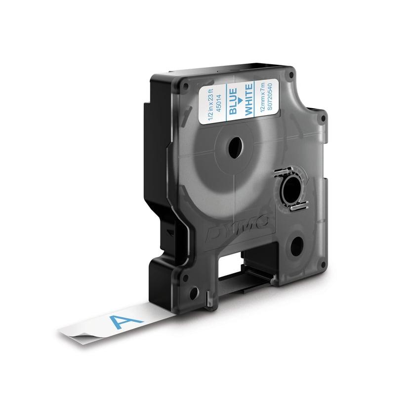 Dymo Tape D1 12mm Blå/Hvid