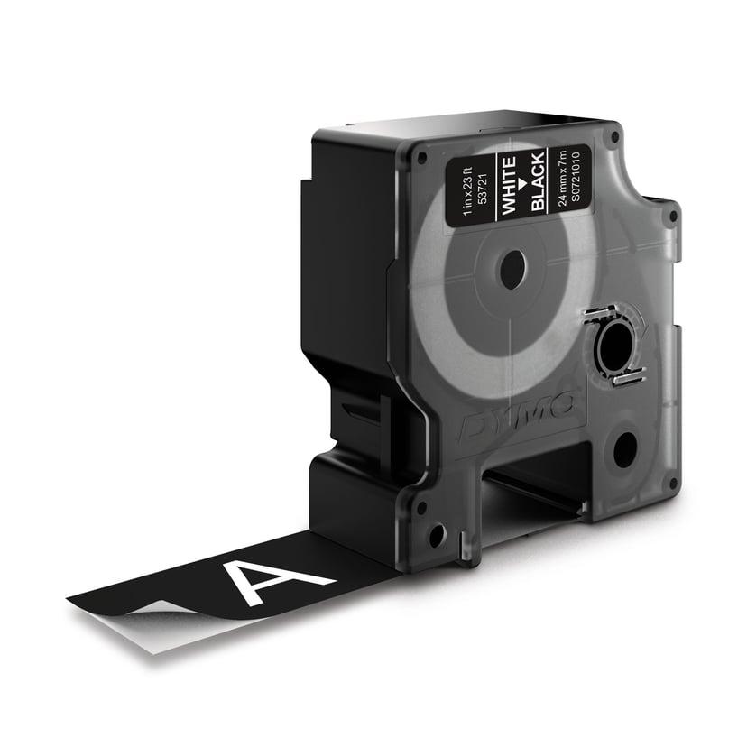 Dymo Tape D1 24mm Hvit/Svart