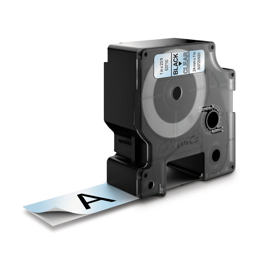 Dymo Tape D1 24mm Black/Transparent