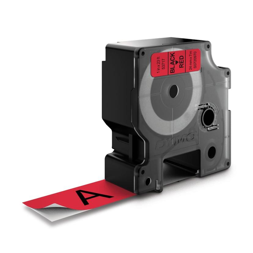 Dymo Tape D1 24mm Black/Red