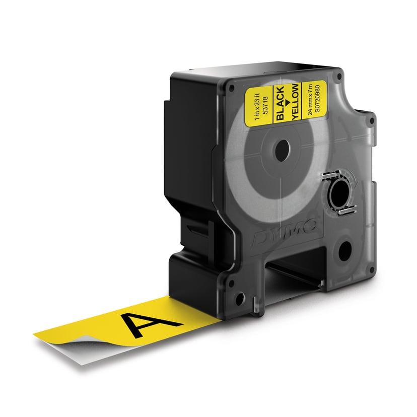 Dymo Tape D1 24mm Svart/Gul