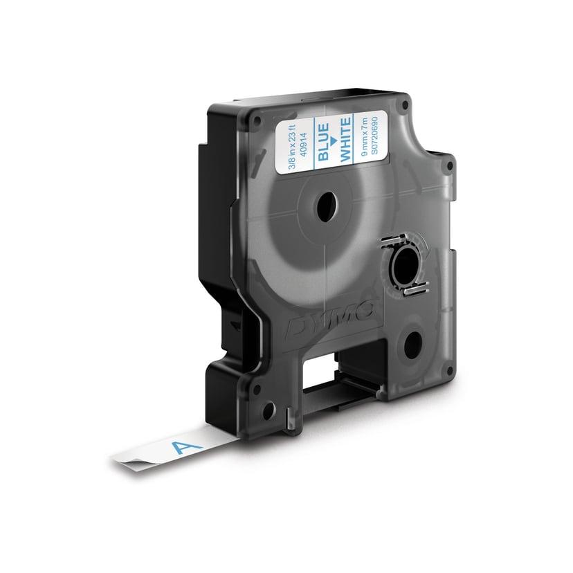 Dymo Tape D1 9mm Blue/White