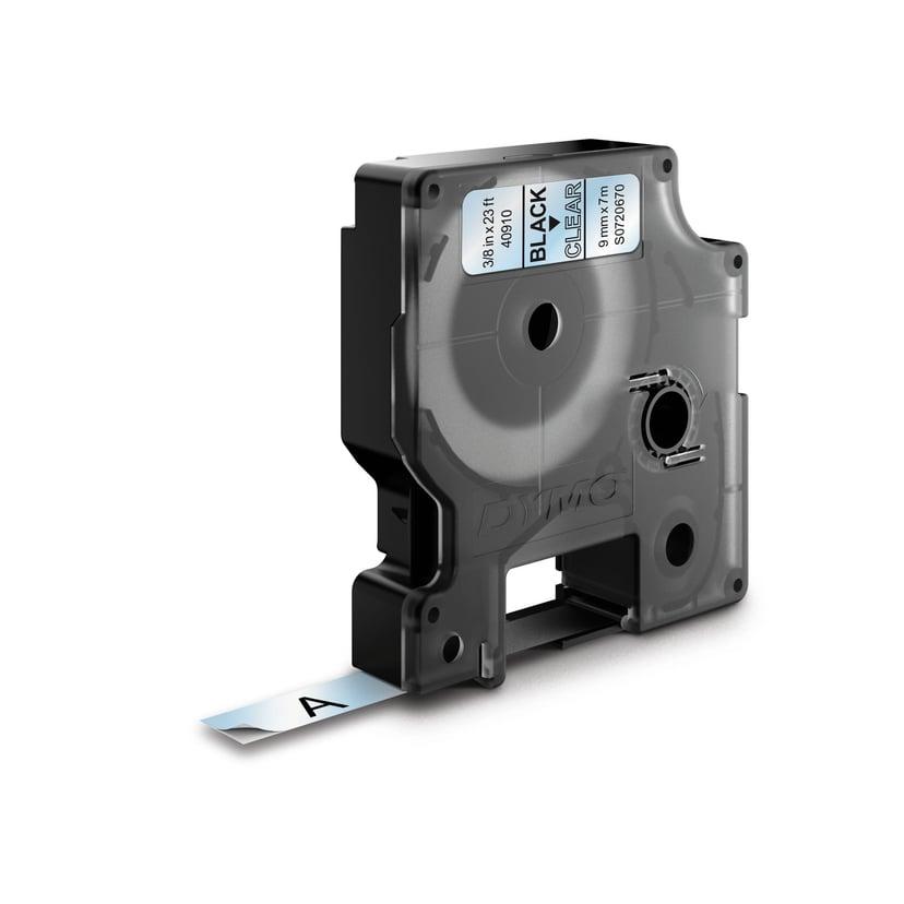Dymo Tape D1 9mm Black/Transparent