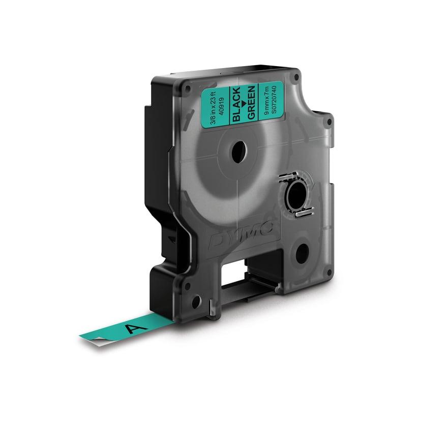 Dymo Tape D1 9mm Black/Green