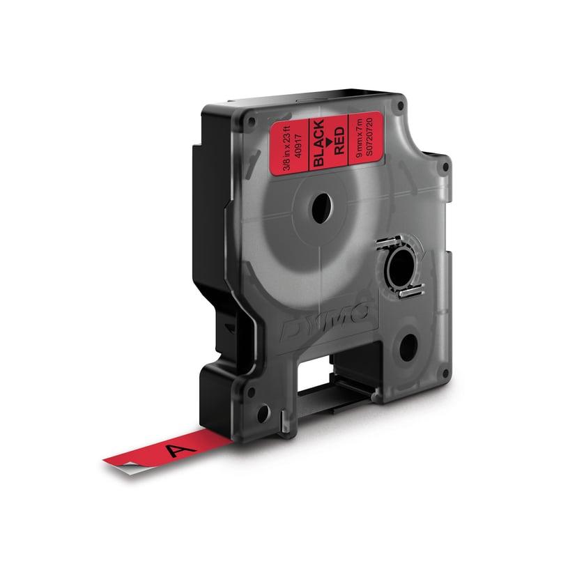 Dymo Tape D1 9mm Sort/Röd