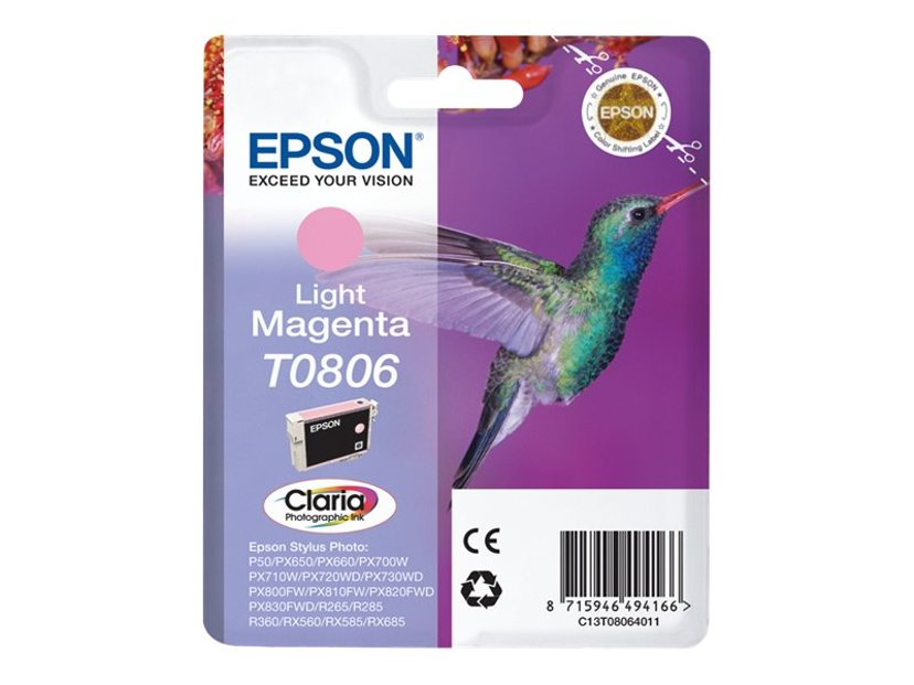 Epson Blæk Ljus Magenta T0806 R265/360/RX560