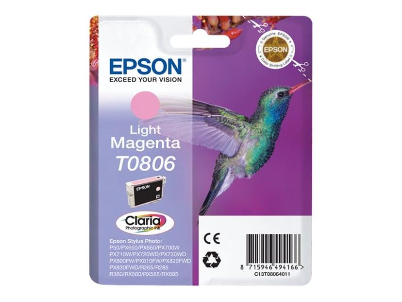 Epson Muste Kevyt Magenta T0806 R265/360/RX560