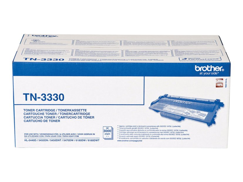 Brother Toner Svart TN-3330 3k - HL-5450DN