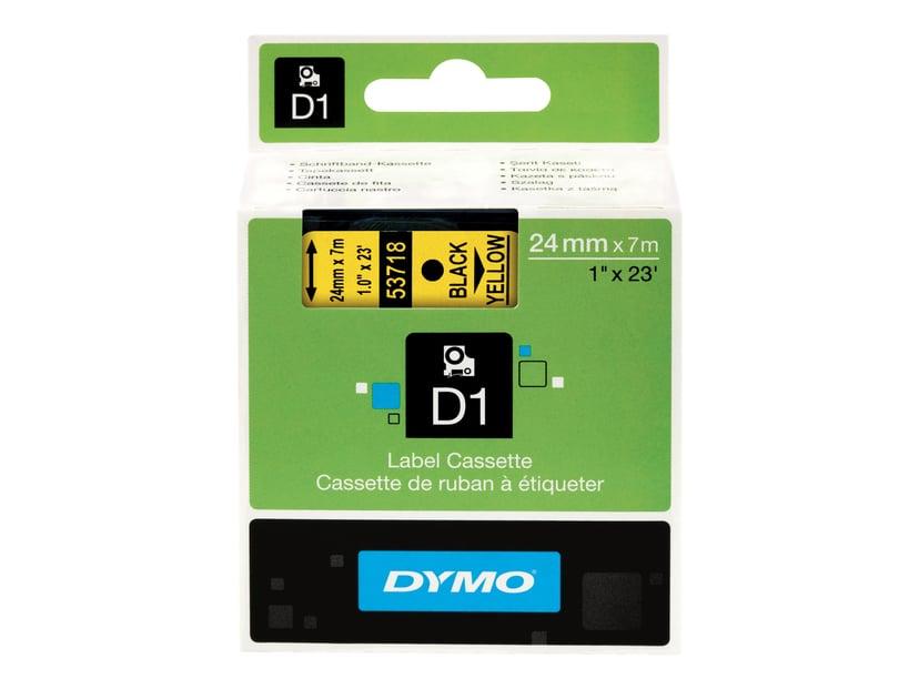Dymo Tape D1 24mm Sort/Gul