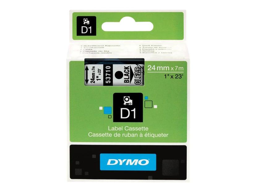 Dymo Tape D1 24mm Svart/Transparent