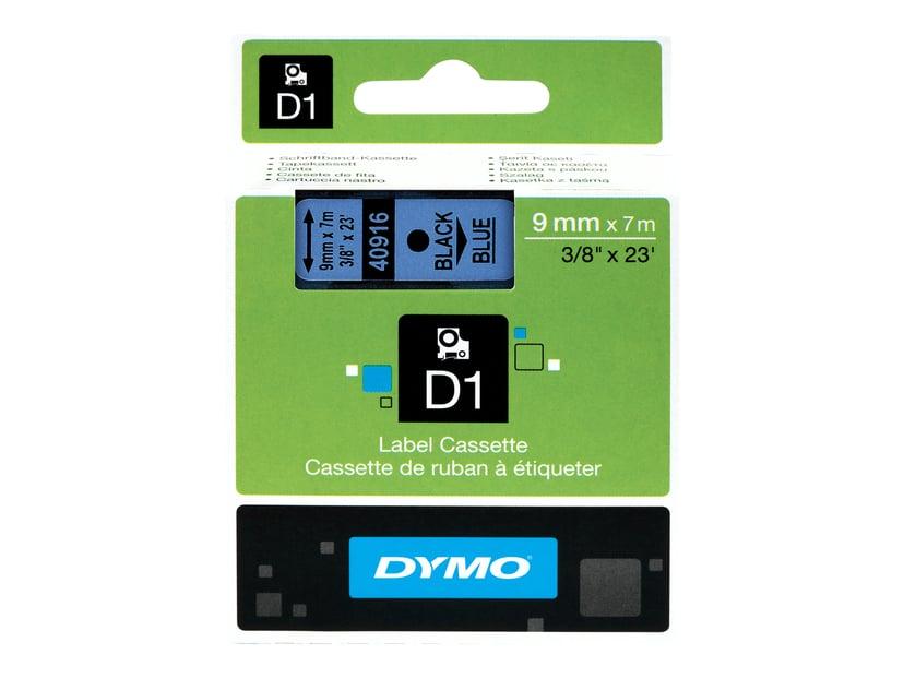 Dymo Tape D1 9mm Svart/Blå