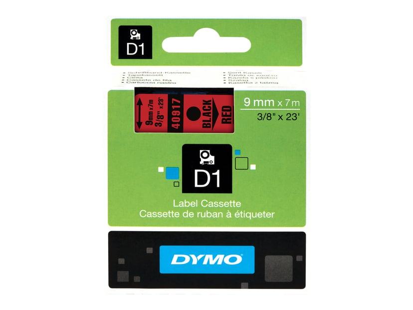 Dymo Tape D1 9mm Svart/Röd