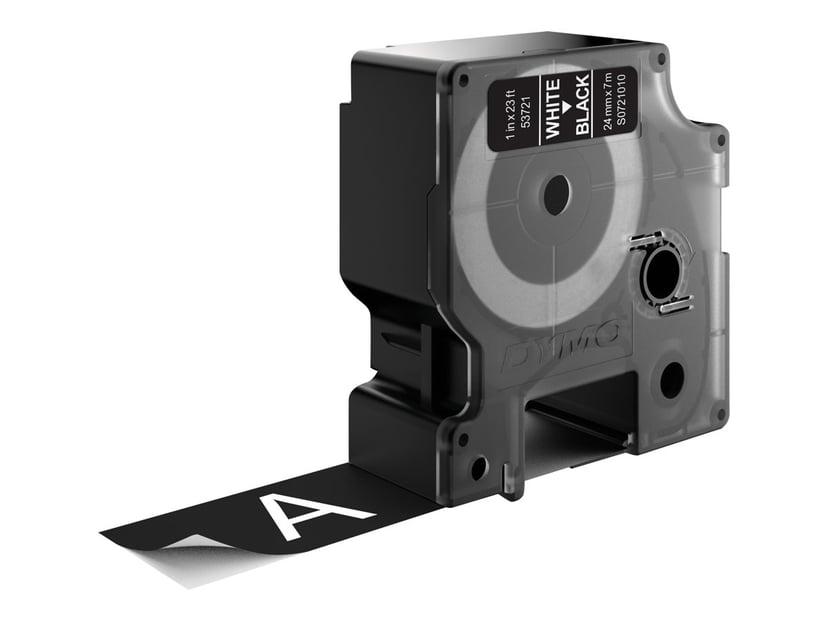 Dymo Tape D1 24mm Hvid/Sort