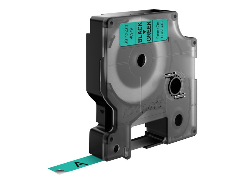 Dymo Tape D1 9mm Sort/Grön