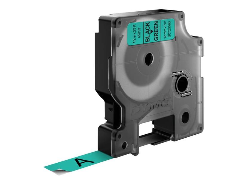 Dymo Tape D1 12mm Sort/Grön