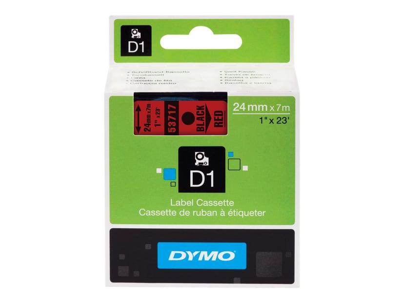 Dymo Tape D1 24mm Sort/Röd