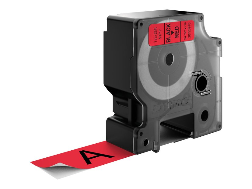 Dymo Tape D1 24mm Svart/Röd